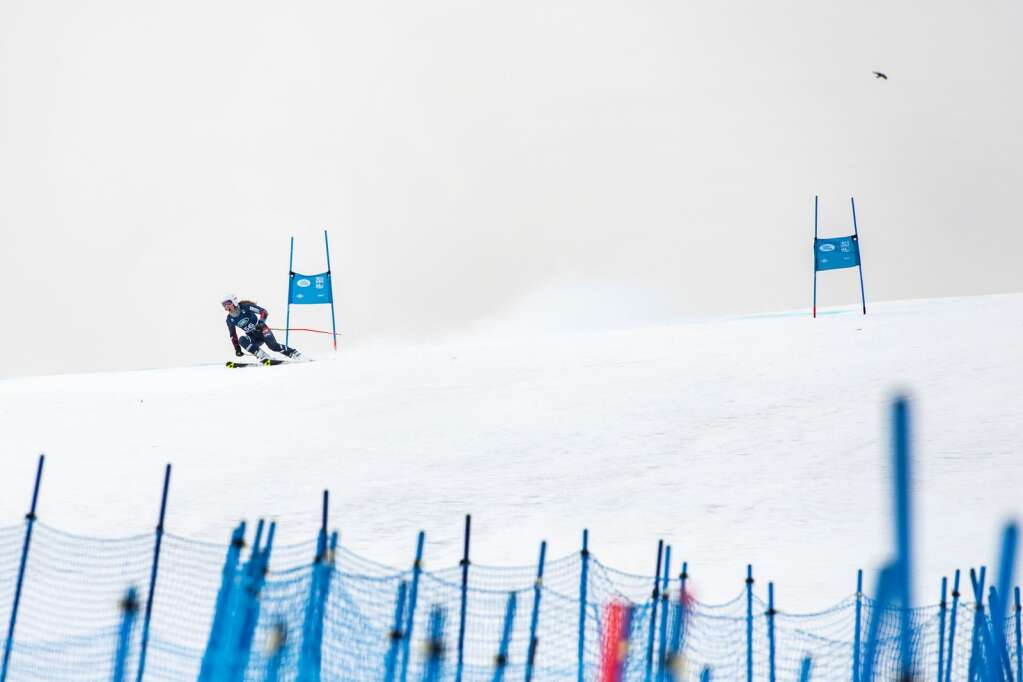 Great Britain's Alexa Elliff competes in the Women's Giant Slalom National Championship at Aspen Highlands on Thursday, April 15, 2021. Elliff did not start the second run.(Kelsey Brunner/The Aspen Times)