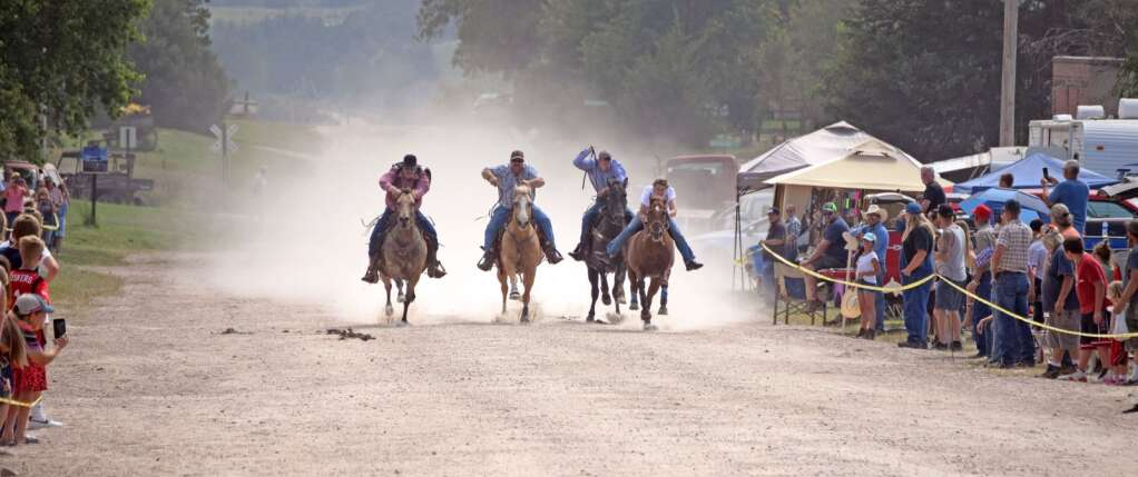And they're off! Horse racing on Main Street in Wellfleet, Neb., returned this year as part of the Fall Festival Sept. 10-11.