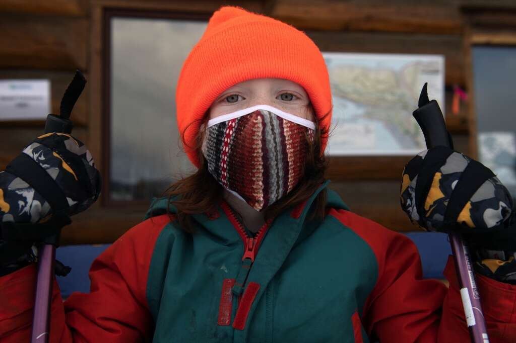 Frisco Elementary School student Ian Verg waits to participate in the after-school Little Vikings Nordic ski program at Frisco Nordic Center on Monday, Jan. 25.   Photo by Jason Connolly / Jason Connolly Photography