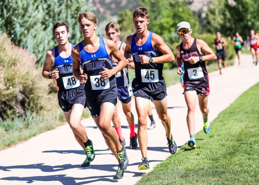 Photo from the Longhorn Invitational cross country meet on Saturday, Aug. 28, 2021, at Crown Mountain Park in El Jebel. Photo by Austin Colbert/The Aspen Times.