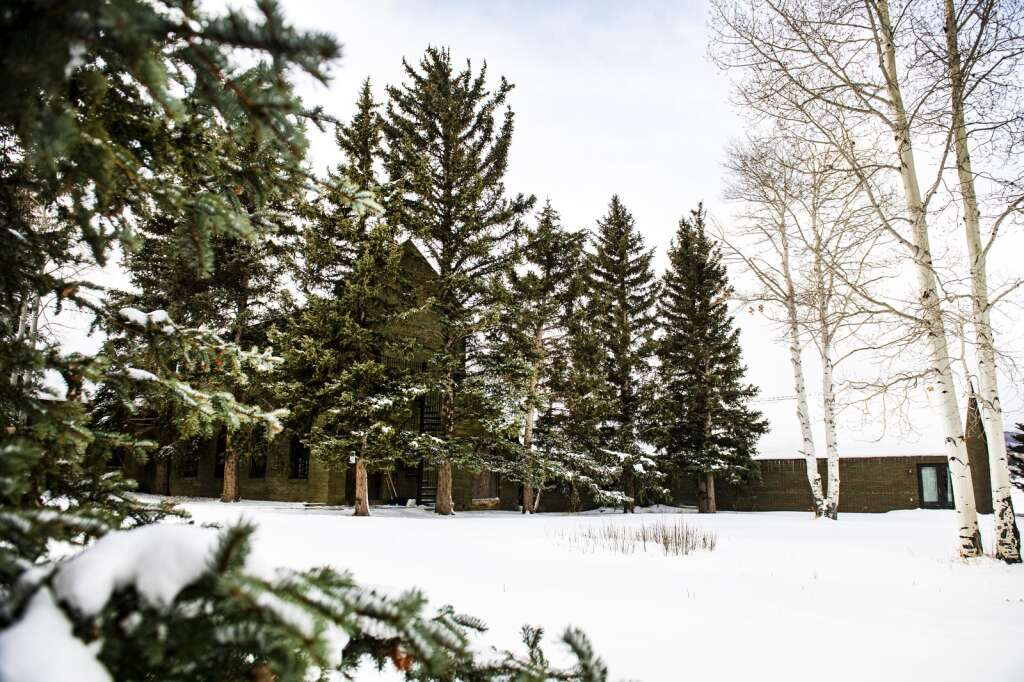A snowy St. Benedict's Monastery in Snowmass on Wednesday, Dec. 23, 2020. (Kelsey Brunner/The Aspen Times)