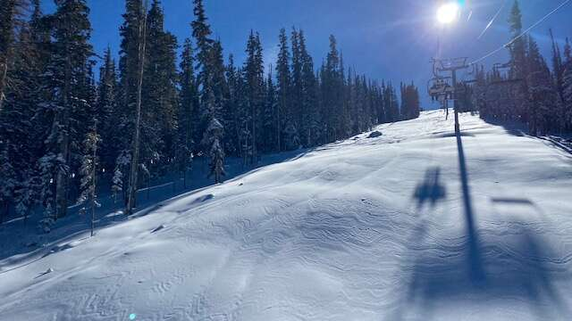 Nearly two feet of fresh snow welcomed skiers and snowboarders Sunday as ski patrollers opened the High Alpine lift at Snowmass Resort.
