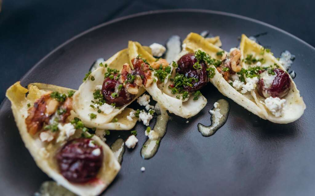Endive salad with anchovies.   Roshni Gorur, Courtesy of Anderson Ranch Arts Center