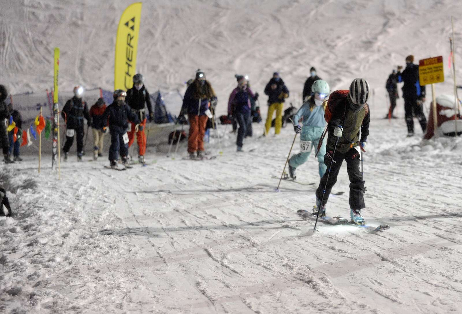 The first race of the 2022-21 Ski Ascent Series was Wednesday evening at Howelsen HIll. A record 62 people participated in the circuit-style race.
