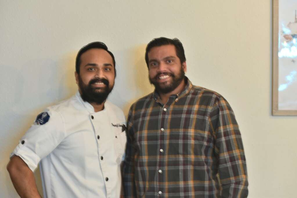Namaste India co-owners Ricky Biswas and Sachin Sawant opened their restaurant in November, serving up authentic Indian and traditional French food. | McKenna Harford / mharford@skyhinews.com
