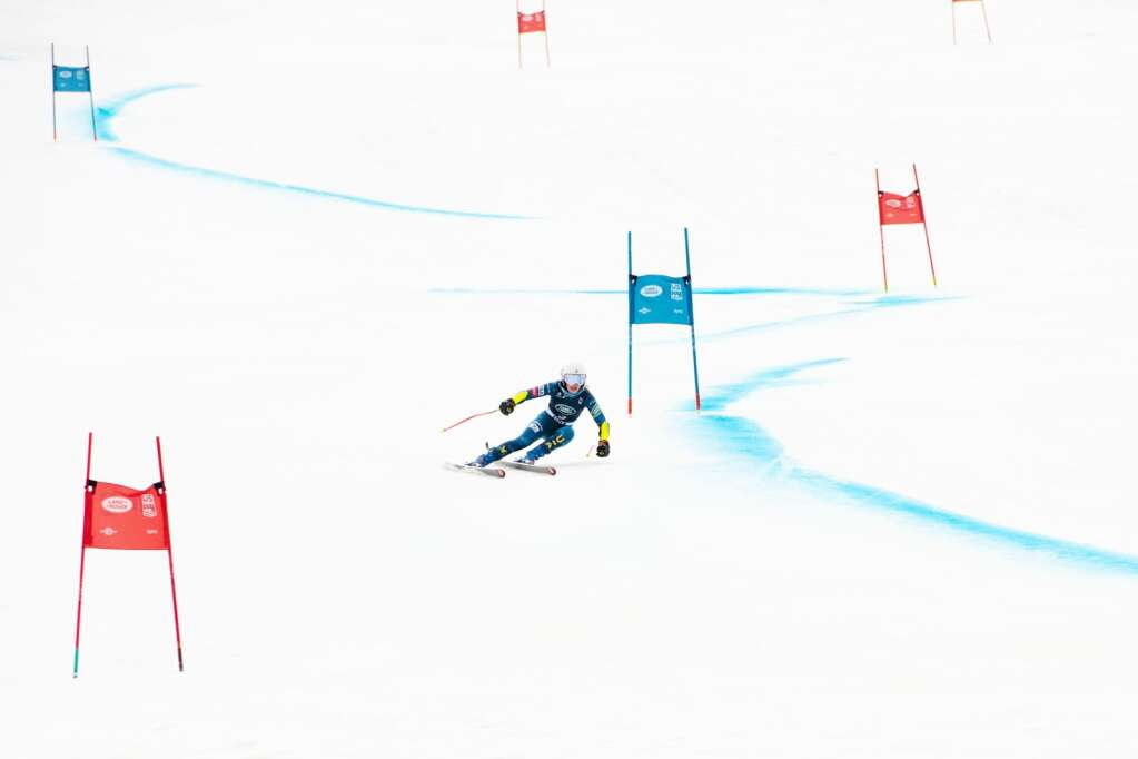 American alpine skier Emma Resnick competes in the Women's Super G National Championships at Aspen Highlands on Tuesday, April 13, 2021. (Kelsey Brunner/The Aspen Times)
