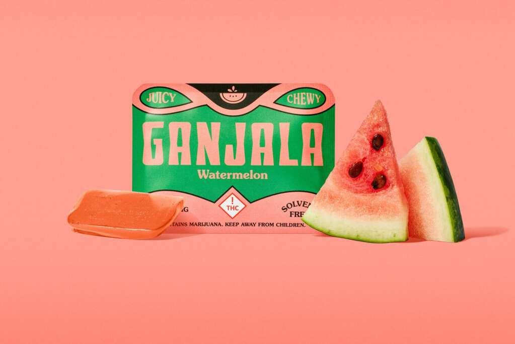 Each single-serve Ganjala is infused with 10 milligrams of solvent-free, cannabis extract and retail for around $5 each. | Latitude Studio