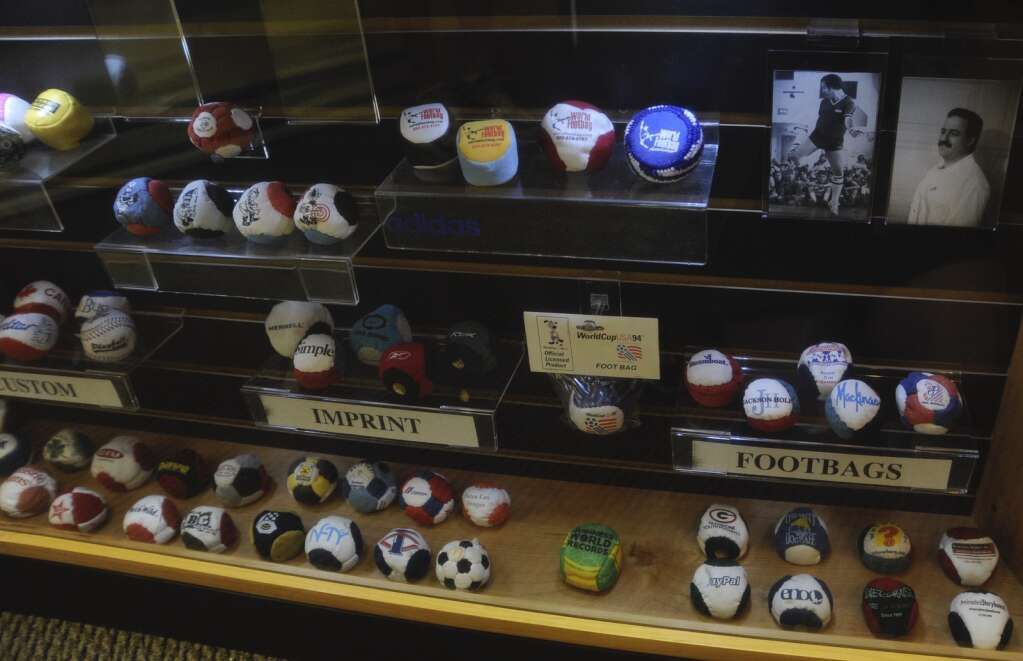 A display of footbags can be seen at World Footbag in Steamboat Springs. | Shelby Reardon/Steamboat Pilot & Today