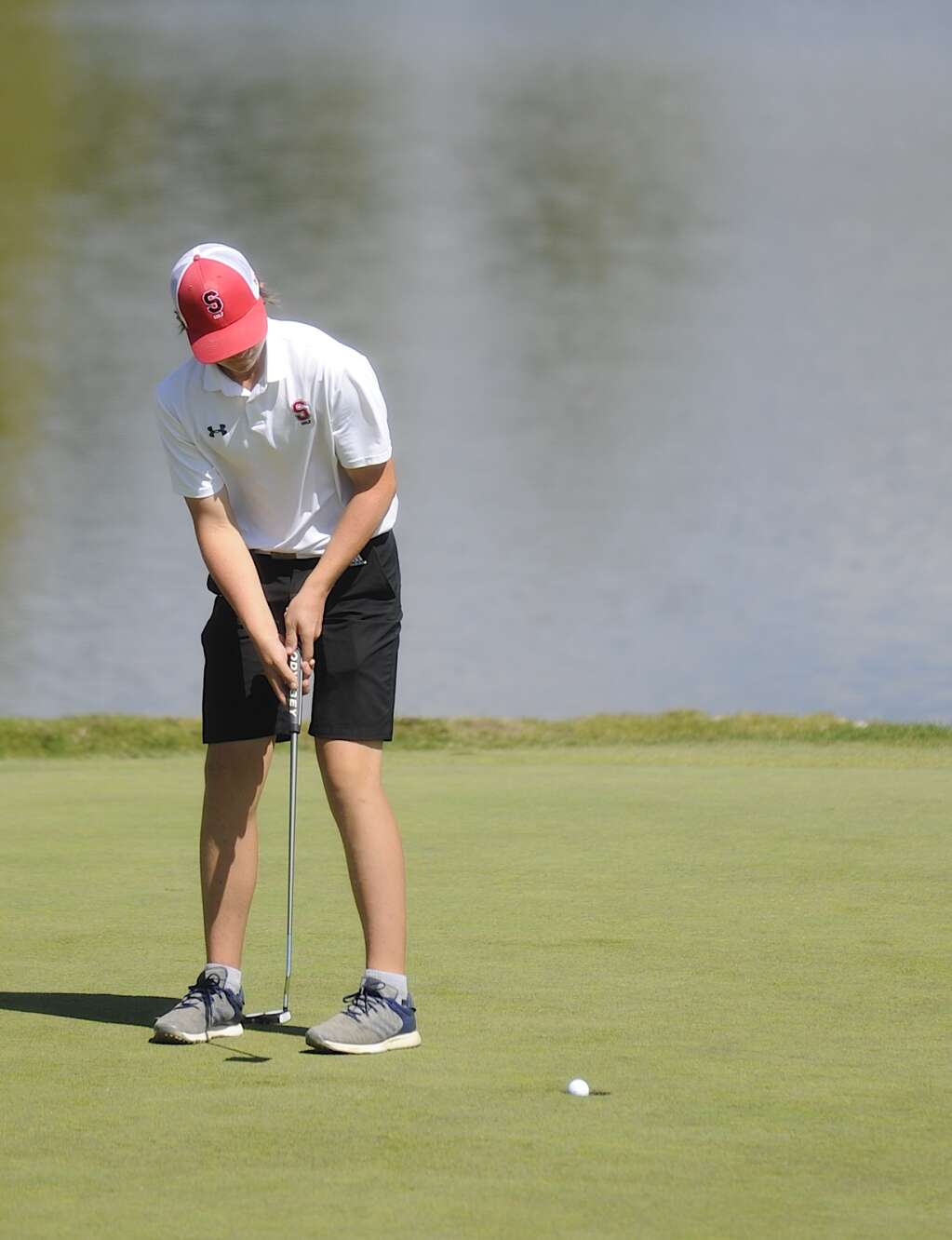 Steamboat Springs junior Jeremy Nolting putts on hole 10 at the Steamboat Sailor Invitational at Haymaker Golf Course on Tuesday. | Shelby Reardon/Steamboat Pilot & Today
