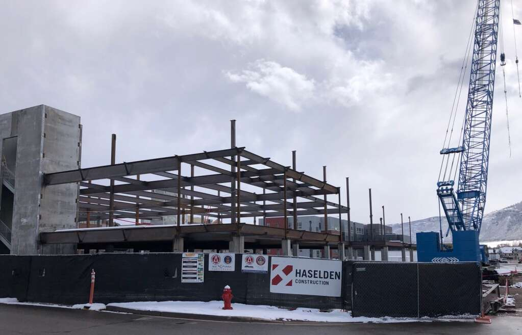 Work progressed through the winter on the Steadman Clinic's 65,000-square-foot building in Willits. | Scott Condon/The Aspen Times