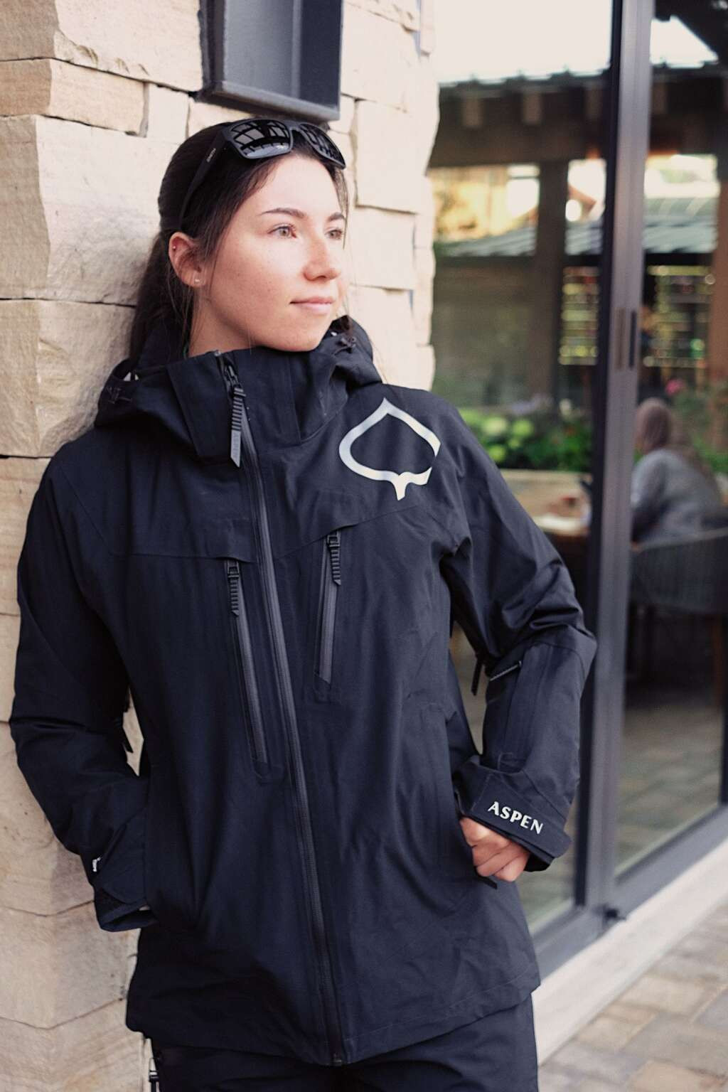 Aspen Skiing Co.'s new branded jacket is modeled by a worker. The ASPENX line will feature the aspen leaf logo. | Aspen Snowmass/courtesy photo