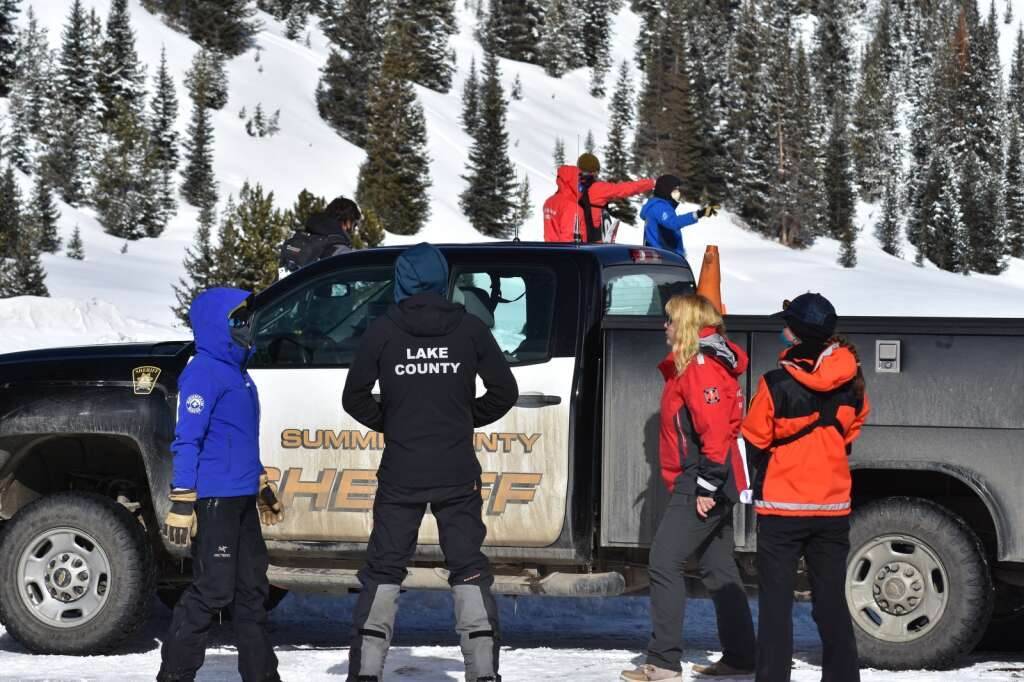 Search and rescue organizations from around the state gathered at Vail Pass on Thursday, March 11, for a mock avalanche rescue. | Photo by Sawyer D'Argonne / sdargonne@summitdaily.com