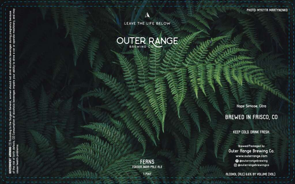 Outer Range Brewing Co.'s labels are directly influenced by the unique name of the beer. Designer Diana Riggs matches the vibe with the style as well, such as using bright colors for lighter beers. | Image by Diana Riggs