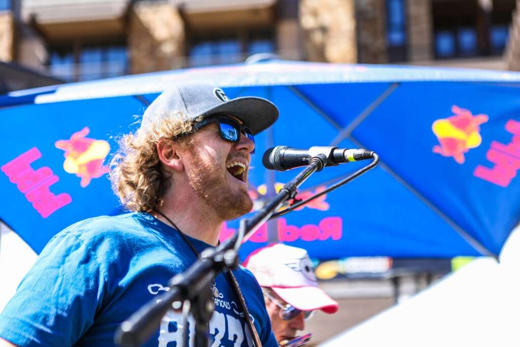 Johnny Schleper of the Johnny Schleper Band plays the GoPro Mountain Games Mountains of Music the first day of the Mountain Games Thursday in Solaris in Vail Village.