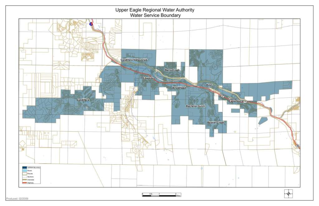 The Upper River Regional Water Authority currently provides water to all areas west of Dowd Junction to Cordillera. | Eagle River Water and Sanitation District/Courtesy Photo