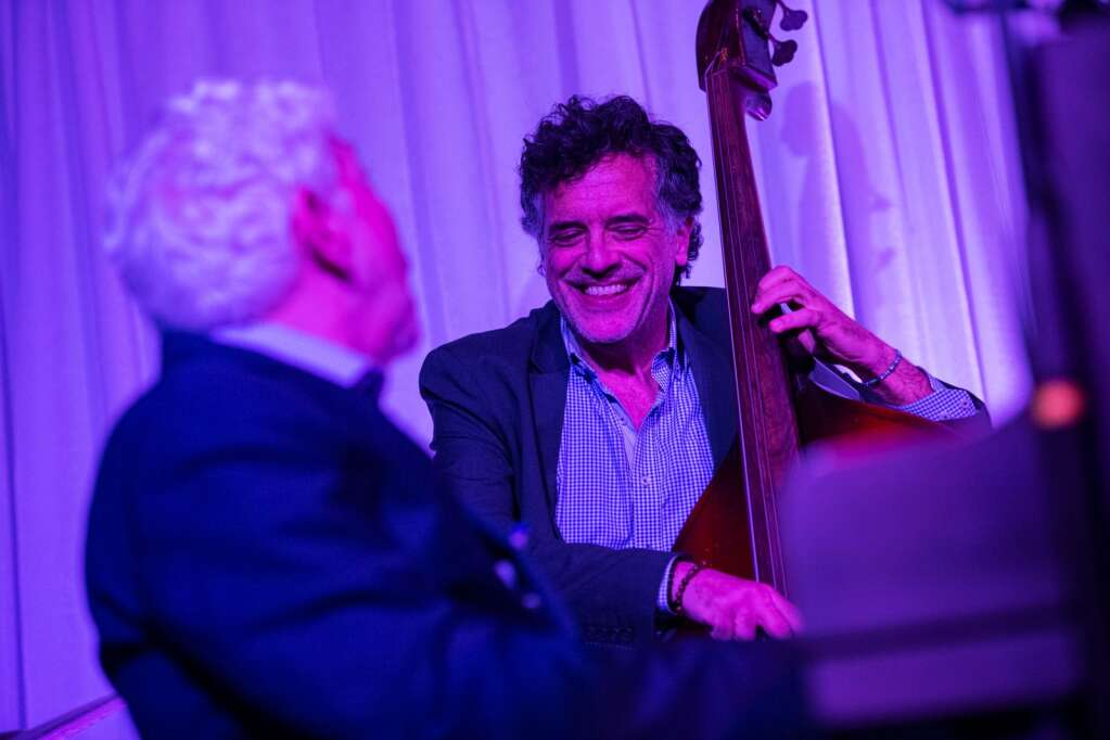 The Monty Alexander Trio plays to a crowd on the rooftop of the Aspen Art Museum at the JAS June Experience in downtown Aspen on Friday, June 25, 2021. (Kelsey Brunner/The Aspen Times)