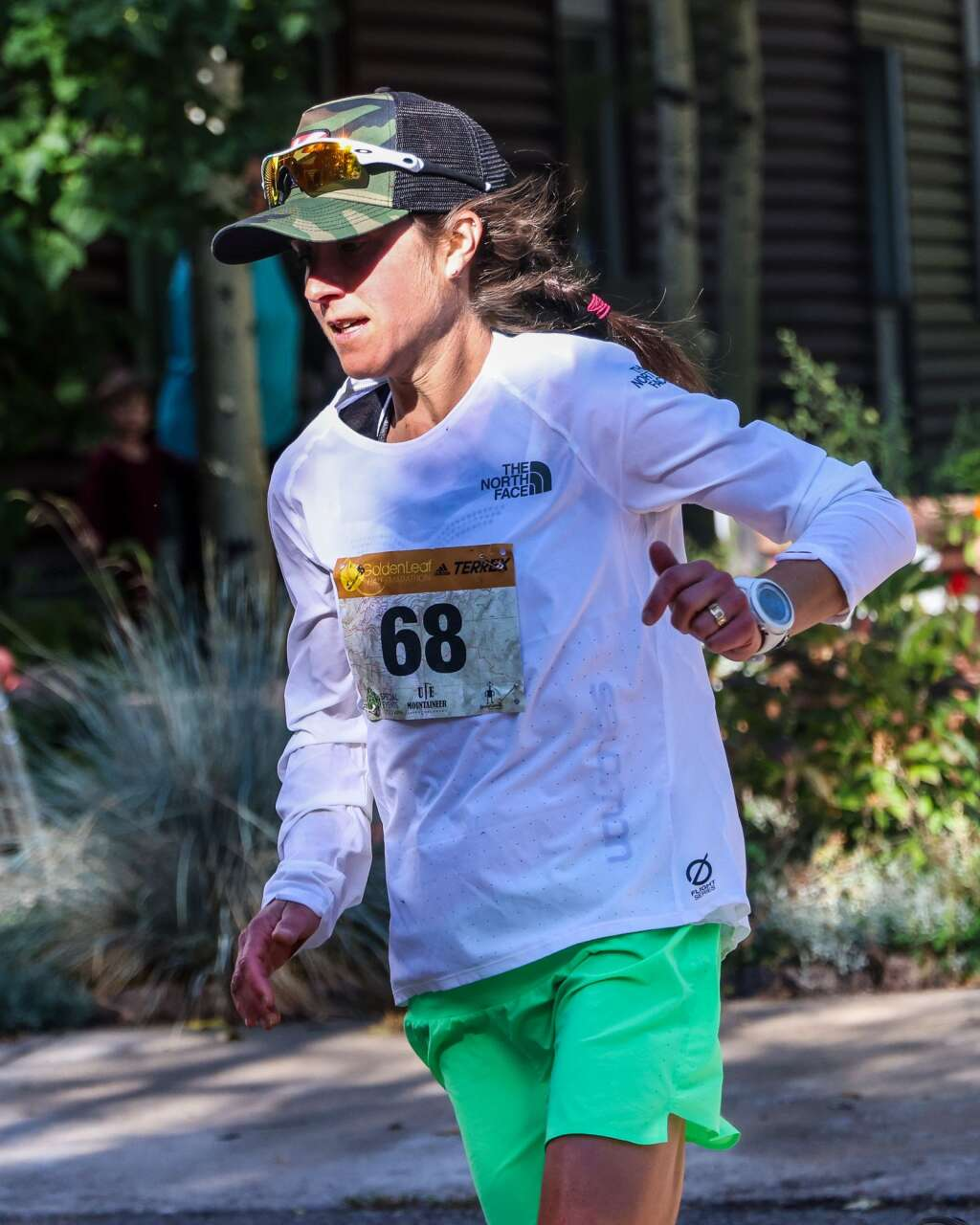 Carbondale's Morgan Arritola competes in the Golden Leaf half marathon on Saturday, Sept. 18, 2021, in Aspen. Arritola was the top female finisher. Photo by Austin Colbert/The Aspen Times.