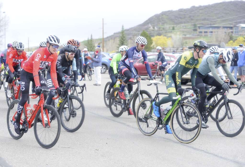 The men's pro race of the 2021 Steamboat Roubaix takes off from Howelsen Hill on Saturday, May 8. (Photo by Shelby Reardon)