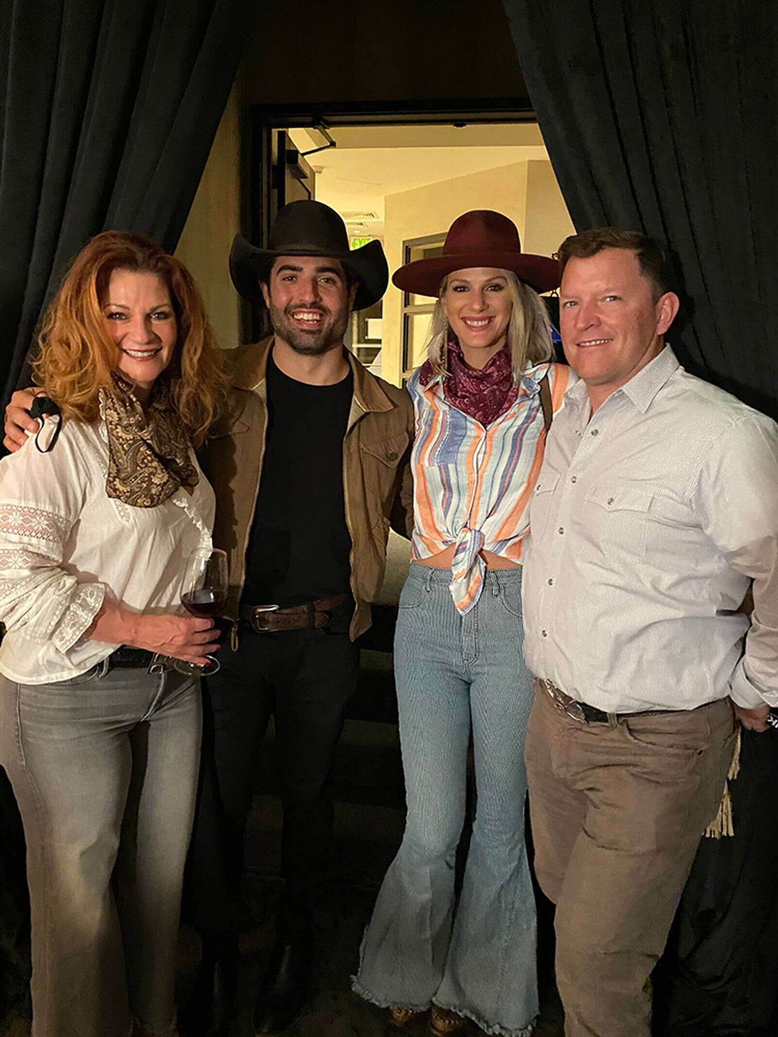 Marisa Wayne, Austin Moody, Jennifer Wayne and Bill Gorman at the new Wine Bar at The Nell.