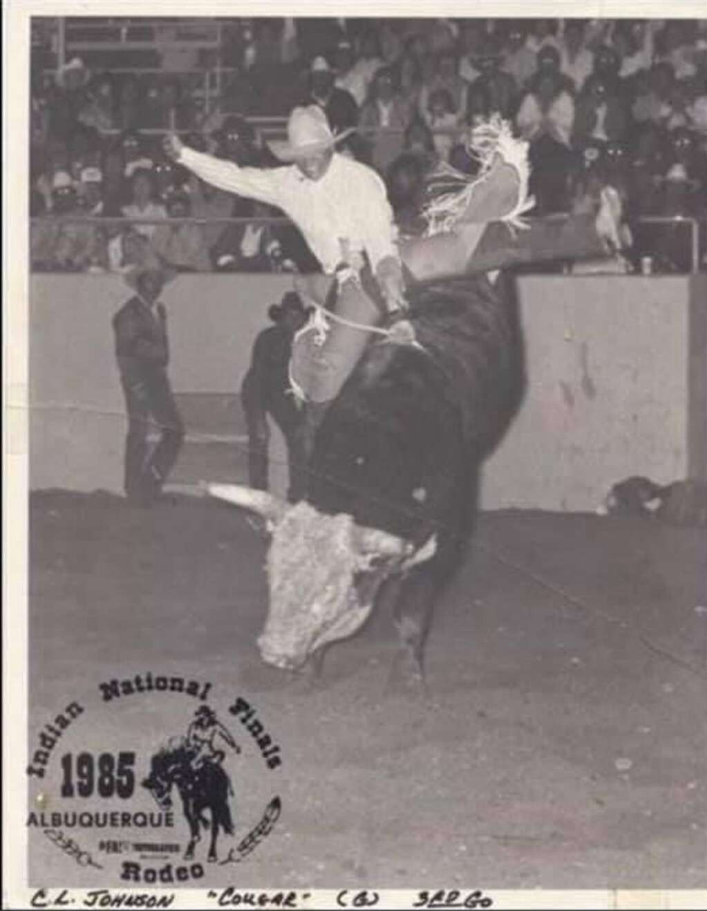 CL Johnson won the INFR bull riding title in 1985. Photo courtesy Josey Johnson