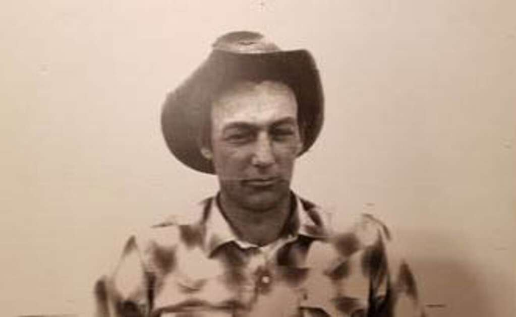 Young Jim Holloway, (taken sometime in the 1970s) he hired on for the brand board when he was 21 years old.