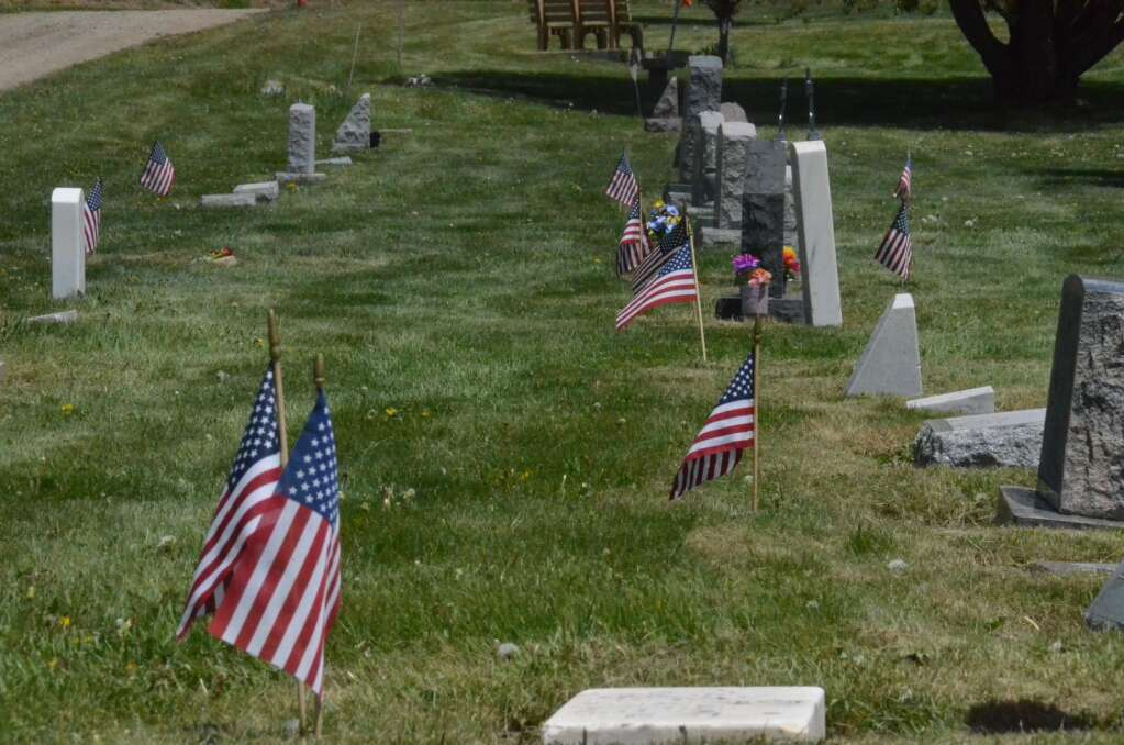 For Memorial Day 301 small American flags were placed next to the graves of veterans in Steamboat Springs Cemetery. (Photo by Dylan Anderson)