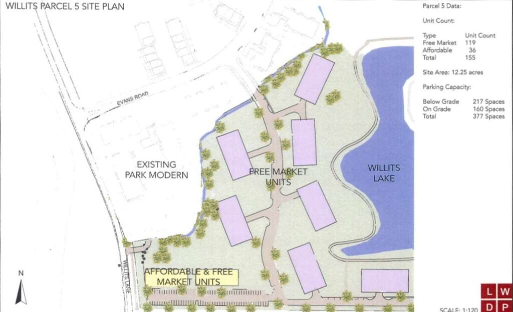 Michael Lipkin has proposed 111 free-market condos in seven buildings and 44 rent-capped apartments in two buildings in Willits.