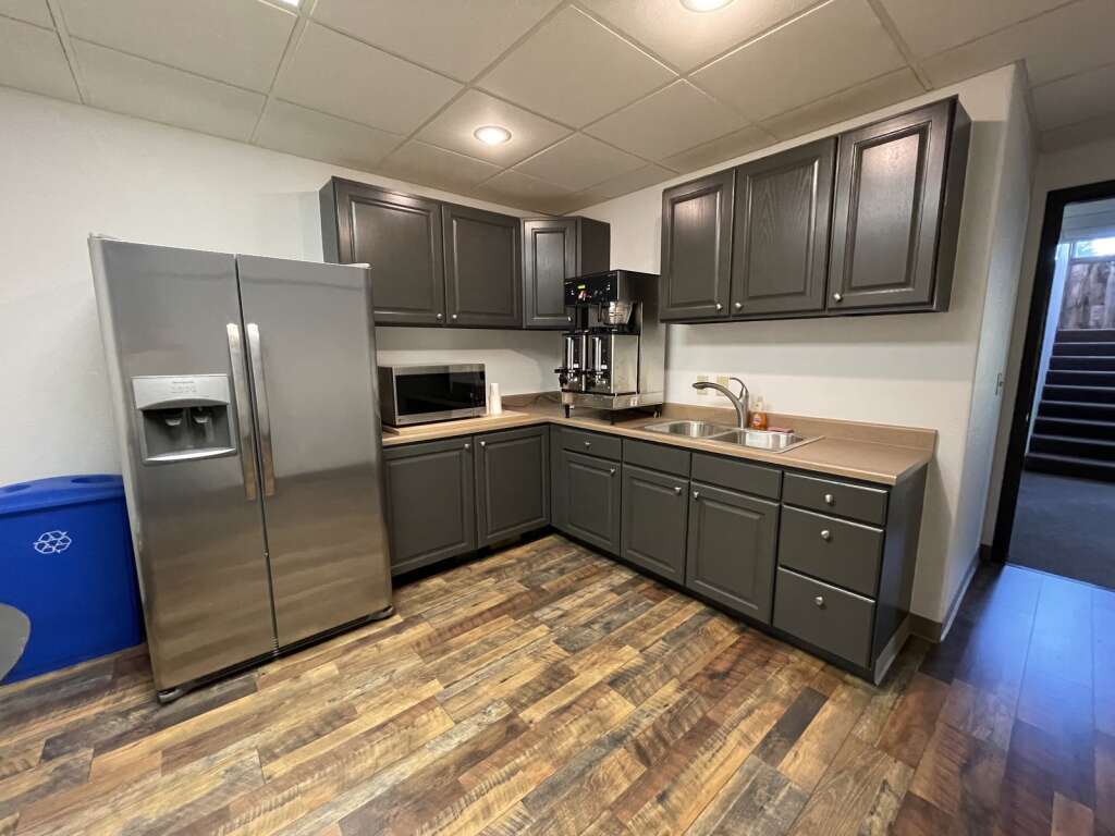 Located in the basement of The Mountain Space is a kitchen with complimentary coffee for daily users or members. The new coworking space in Dillon just opened in late June. | Photo by Jenna deJong