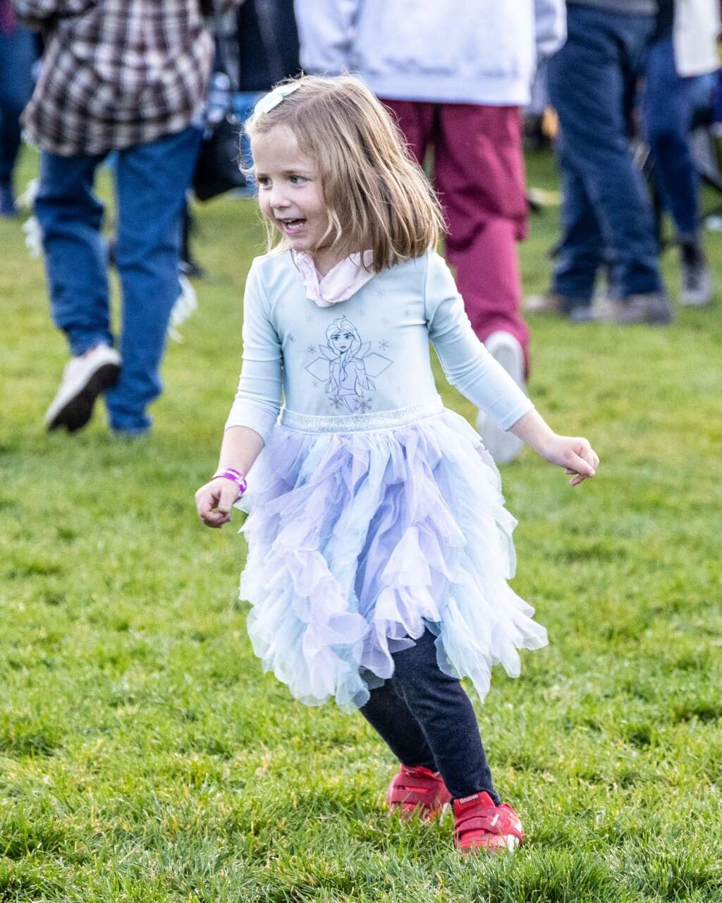 A young girl dances during Jazz Aspen Snowmass on Friday, Sept. 3, 2021, in Snowmass Village. Photo by Austin Colbert/The Aspen Times.