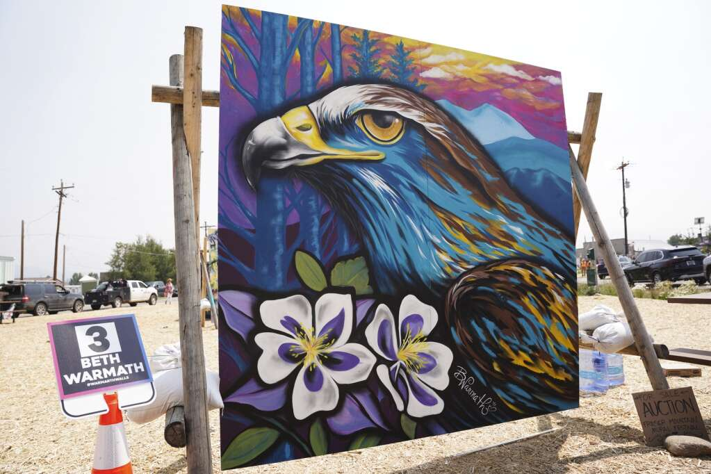 Twenty-five artists competed in the Fraser Mountain Mural Festival on Aug. 6-7, 2021, creating eight-foot by eight-foot works of art at various locations spread out across Fraser. | Eli Pace / epace@skyhinews.com