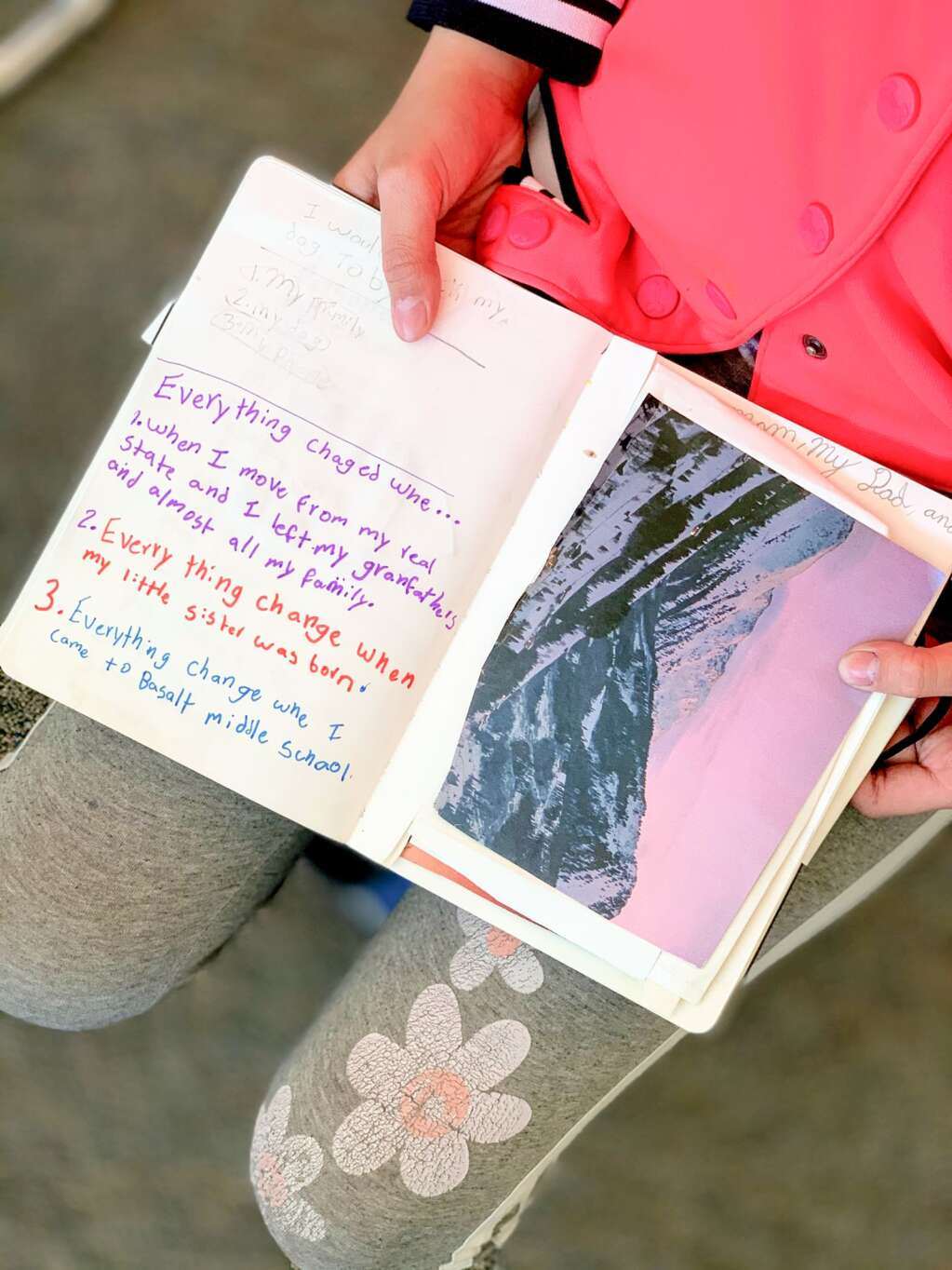 From the VOICES visual journaling project at Basalt Middle School. Photo by Beth White