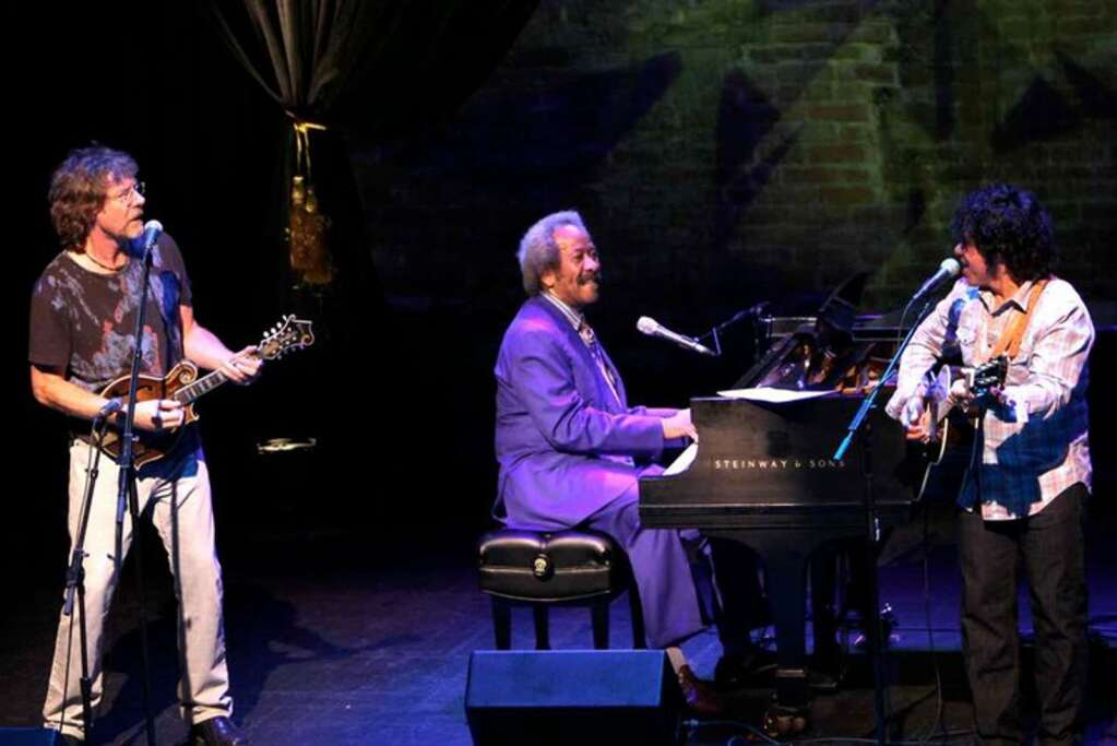 Sam Bush, Allen Toussaint and John Oates performing at the 7908 Aspen Songwriters Festival at the Wheeler Opera House in 2010. (Courtesy photo)