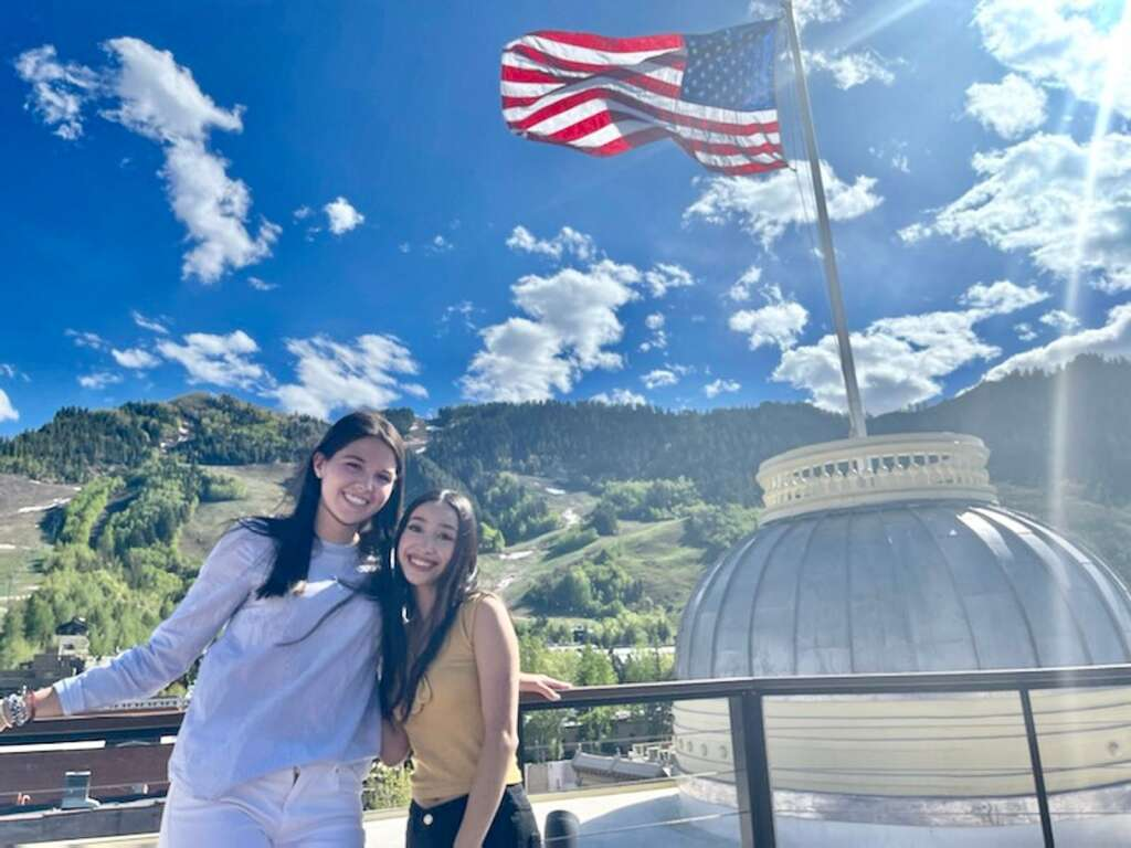 Sofia Durham from Aspen High School and Ximena G Lopez from Basalt High School received the Joe High Memorial Award from the Aspen Elks. (Courtesy photo)