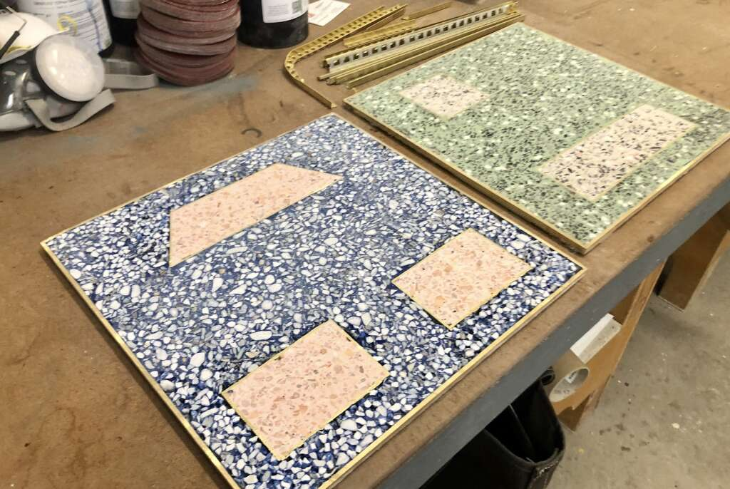 Oolite artist-in-residence Amanda Season Keely used her time at Anderson Ranch Arts Center to create terrazzo tiles that together will spell the word