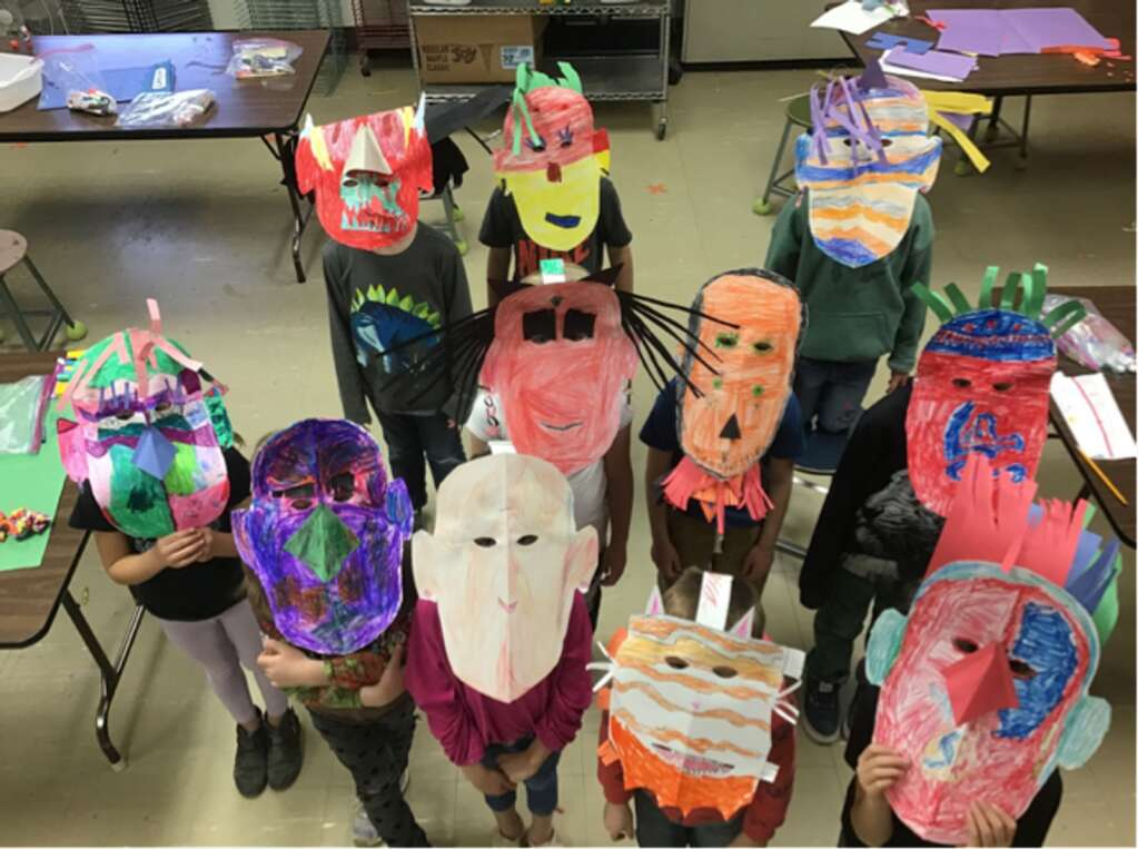 The masks from Mrs. Green's class. | Courtesy EGSD