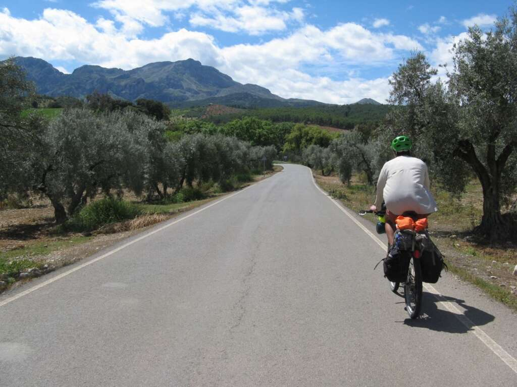 Touring through olive groves in the most mountainous country in the world – Spain.