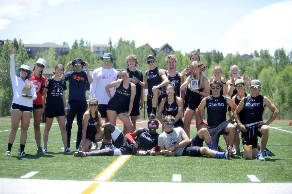 The Steamboat Springs Track and Field team honored its seniors during a home meet at Gardner Field on Saturday afternoon. (Shelby Reardon)