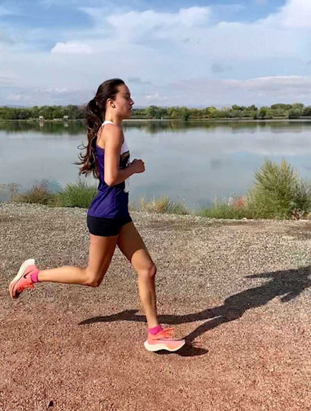 Basalt High School junior Ava Lane competes at a cross country meet on Friday, Oct. 1, 2021, hosted by Delta. Courtesy photo.