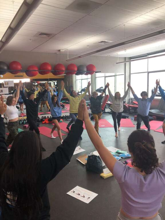 Students of Shannon Worth's yoga courses at Aspen High School working towards their 200-hour teacher training certificate. (Contributed by Shannon Worth/For the Aspen Times)