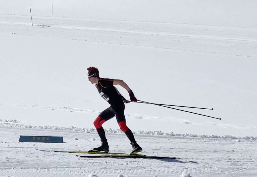 Aspen's Noah Wheeless competes in the Nordic state championships on Saturday, March 6, 2021, at the Gold Run Nordic Center in Breckenridge. Courtesy photo.
