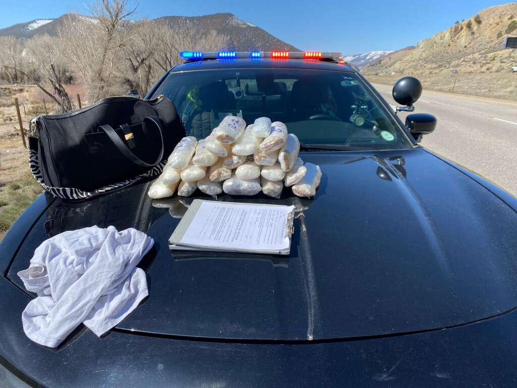 Over two months, GRANITE, the Gore Range Narcotics Interdiction Team, has seen drug seizures along I-70 in Eagle County totaling about 85 pounds of methamphetamine, heroin and fentanyl. The interstate is a major drug trafficking route and officials say activity is up everywhere. | Gore Range Narcotics Interdiction Team