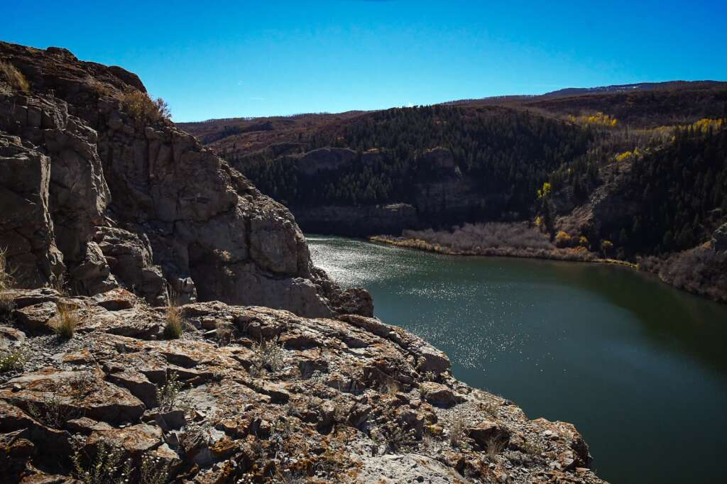 Sweetwater Lake is located in eastern Garfield County 10 miles west of the Colorado River Road near Dotsero. |Chelsea Self/Post Independent