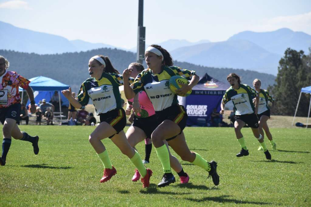 A PAC Misfit carries the ball upfield during a rugby game at Colorado Mountain College, Spring Valley campus on Saturday.  Ray K. Erku / Post Independent