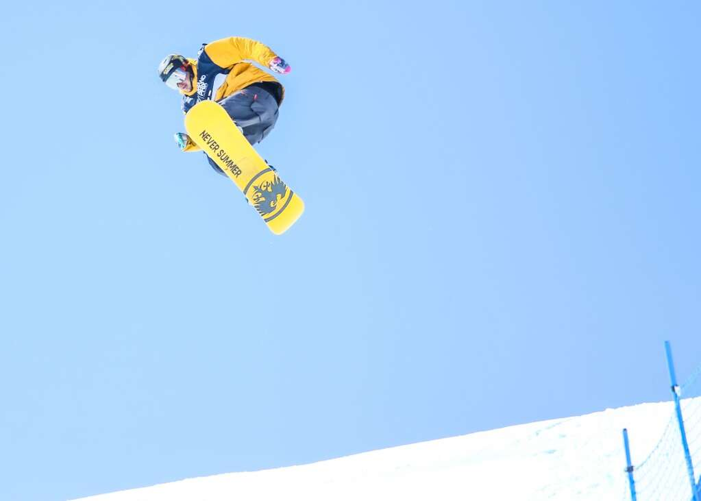 Colorado's Chris Corning competes in the men's snowboard slopestyle qualifier of the U.S. Grand Prix and World Cup on Friday, March 19, 2021, at Buttermilk Ski Area in Aspen. Photo by Austin Colbert/The Aspen Times.