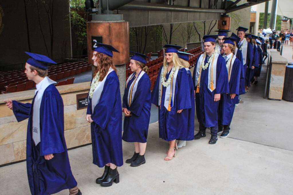 The Vail Christian Class of 2021 prepares for its commencement ceremony Sunday in Vail. The class of 2021 graduated in an unprecedented situation amidst a global pandemic.   Chris Dillmann/cdillmann@vaildaily.com