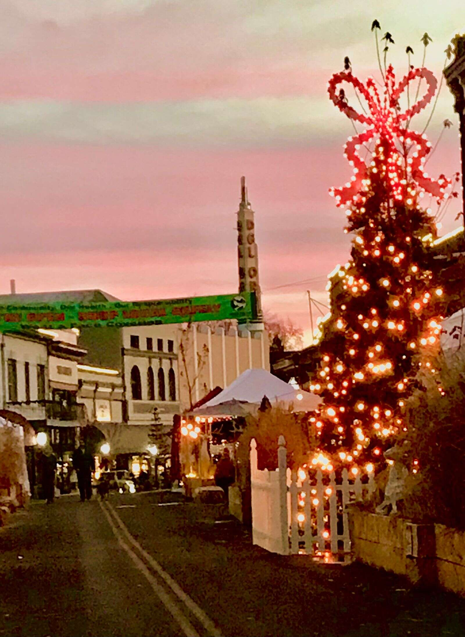 Downtown Grass Valley at dusk is very festive looking.   Submitted by Joanne Bolton
