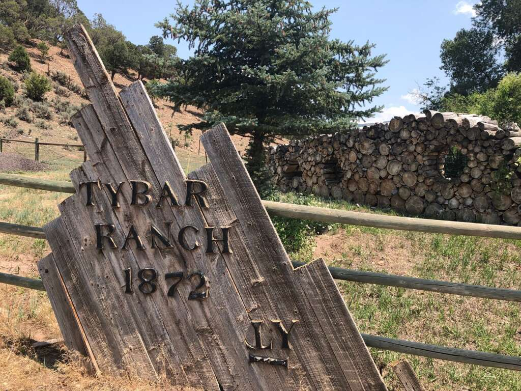 A sign at the entrance to the Tybar Ranch. | Scott Condon/The Aspen Times