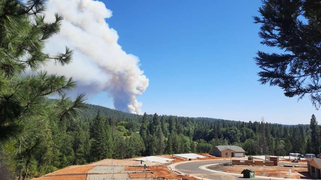 The River Fire as seen from Grass Valley. Berriman Ranch in foreground.   Submitted by Bob Branstrom