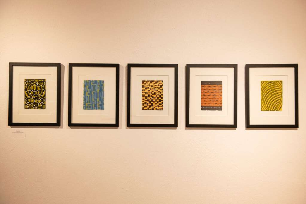 Pieces by William Weidman in the Line and Form gallery exhibition are displayed in the Red Brick Center for the Arts in Aspen on Wednesday, June 2, 2021. (Kelsey Brunner/The Aspen Times)