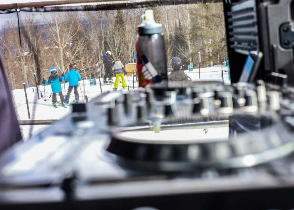 Local DJ Quattro Siracho keeps the beat going at the base of the Alpine Springs chairlift on Saturday, Jan. 16, 2021, at Snowmass Ski Area. Aspen Skiing Co. hired him as part of a new